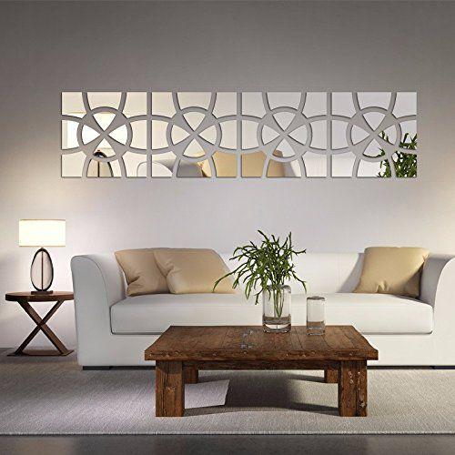 Alrens Tm 48pcs Set Geometric Art Mirror Effect 3d Wall S Https