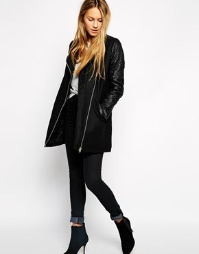 Enlarge Brave Soul Wool Mix Biker Coat | Winter | Pinterest ...