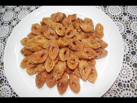 شهيوات ريحانة كمال حلوة لسان العصفور المعسلة اقتصادية مقرمشة و لذيذة شهيوات رمضان Youtube Food Cooking Almond