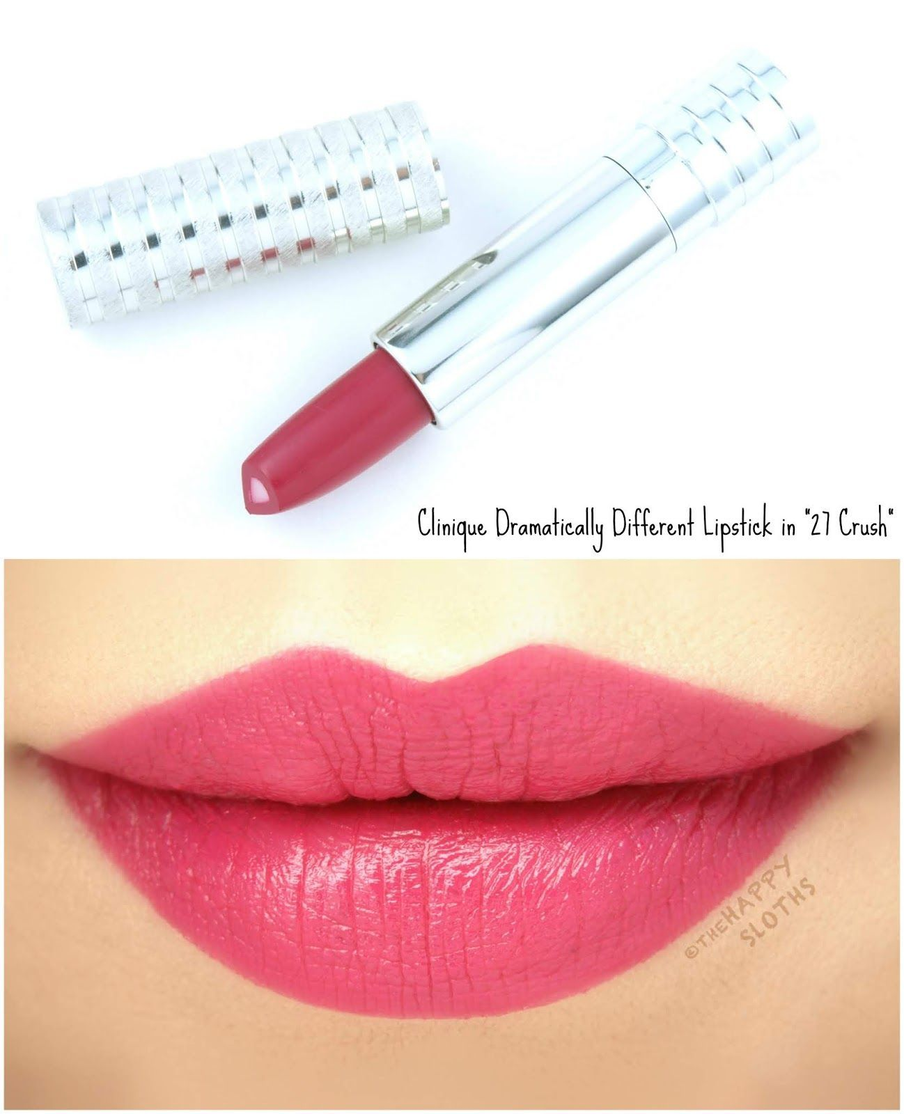 Clinique Dramatically Different Lipstick Shaping Lip Color In 27 Crush Review And Swatches Beautymakeup Lip Colors Clinique Lipstick Lipstick Kit