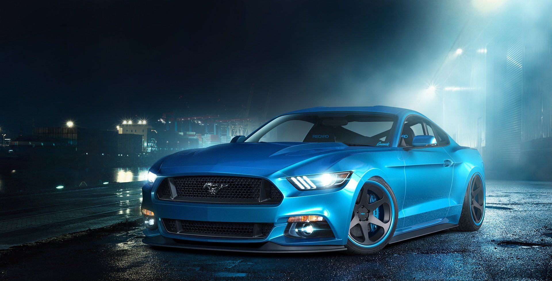 Ford Mustang Gt In The Night Mist 2015 Ford Mustang Mustang Gt