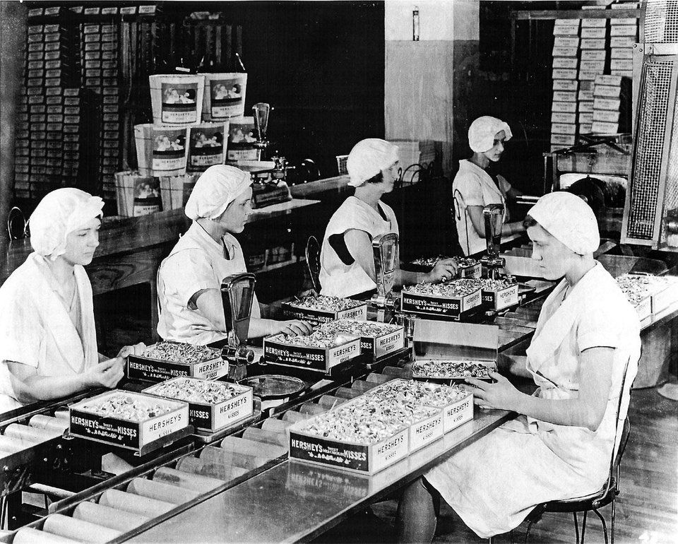 Individually Wrapping Hershey S Kisses In 1937 In Hershey Pa