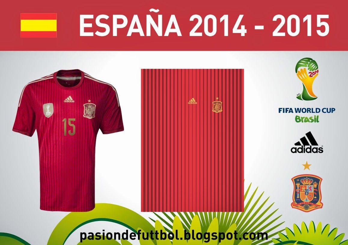 Diseños, Vectores y Templates para Camisetas de Futbol: ESPAÑA 2014 ...