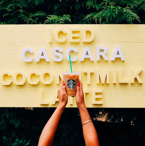 All Hail The Iced Cascara Coconut Milk Latte From