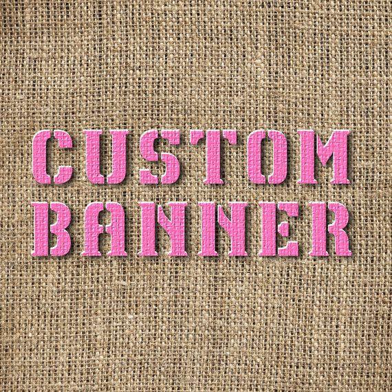 Custom Burlap Banner by BeanandBurlap on Etsy