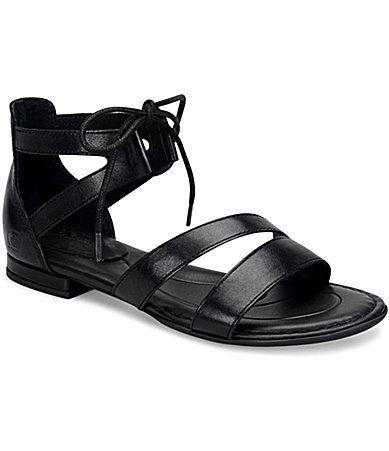 4ae5982e7e3 Born Casma Leather Banded Ankle Tie Sandals #Dillards ...