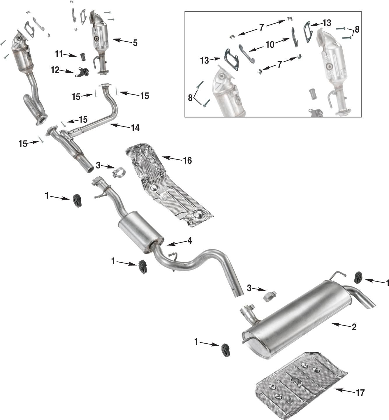 Jeep Wrangler Jk Exhaust Parts