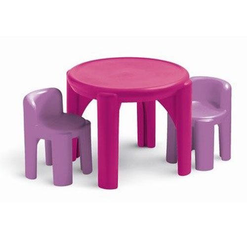 DAUGHTERu0027S   Little Tikes Plastic Table And Chair Set   Pink And Purple   $  47
