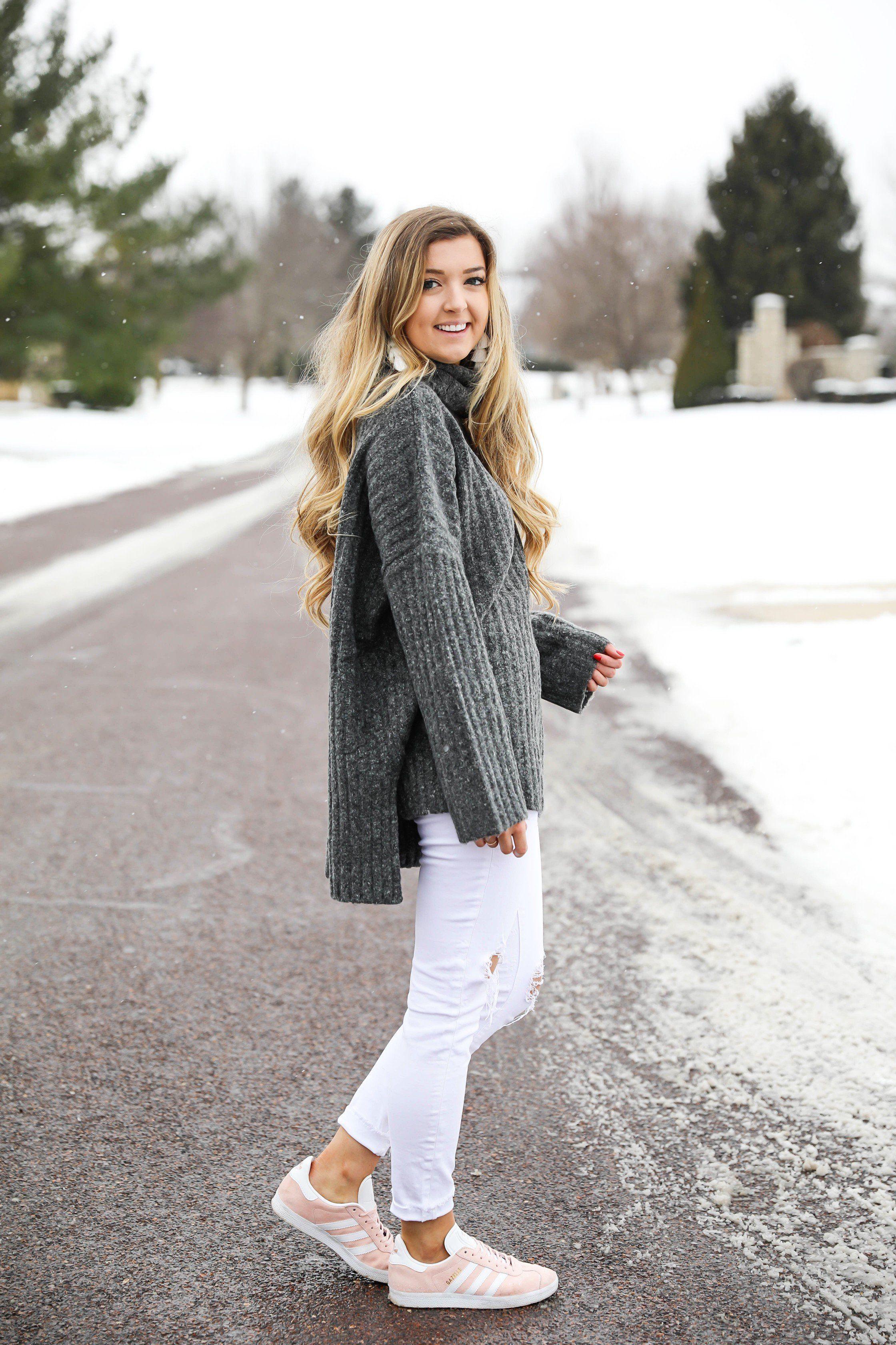 Snowy Sweater & Pink Sneakers | Pink sneakers, Pink sneakers