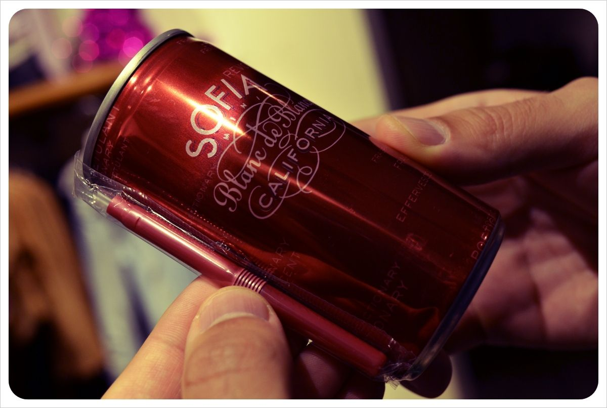 sparkling wine in a can?!... with a matching straw! (you had me at matching straw)