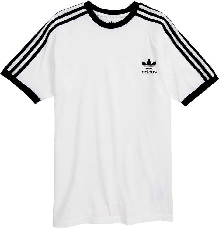 adidas 3 Stripes Tee ($21) ❤ liked on Polyvore featuring