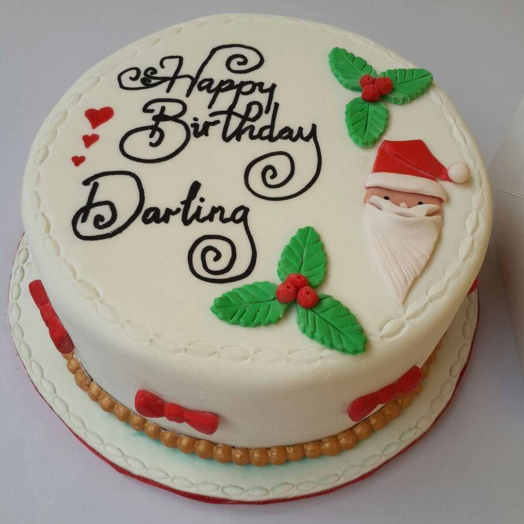 Say Merry Xmas And Happy Birthday With A Cake Cc All Those Born In