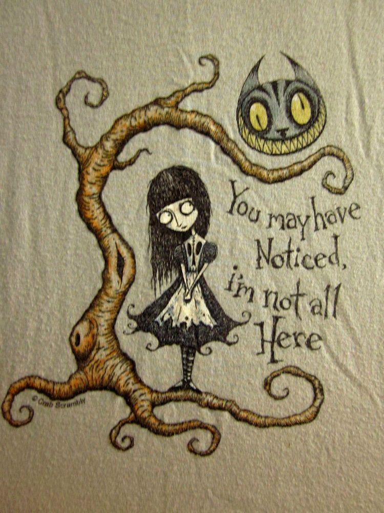 Cheshire Cat Youth Lrg T Shirt Goth Alice Wonderland Creepy Lewis Carroll Alice In Wonderland Tim Burton Drawings Style Tim Burton Drawings
