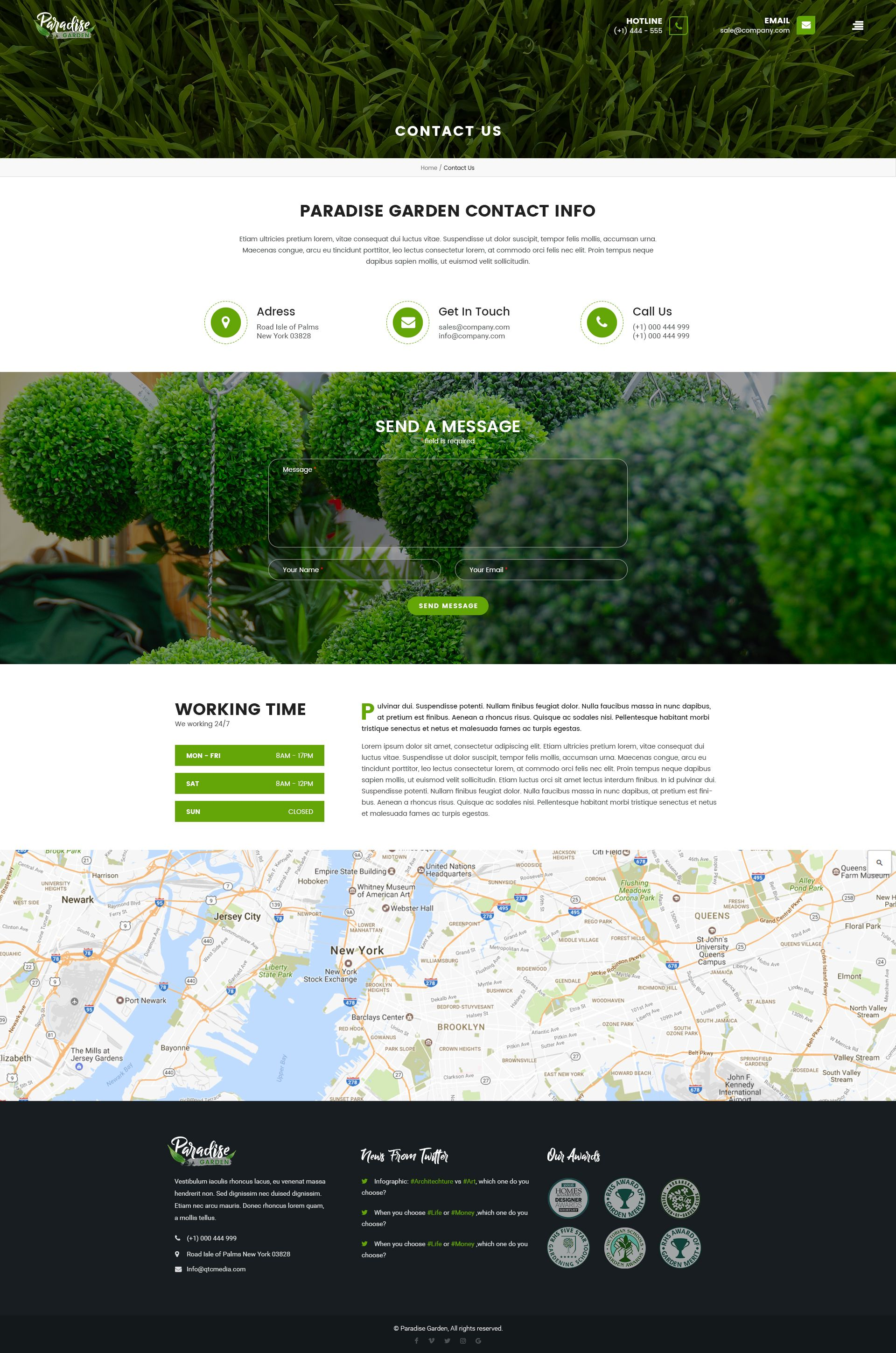 Paradise Garden Is A Premium Psd Template Built For Landscaping