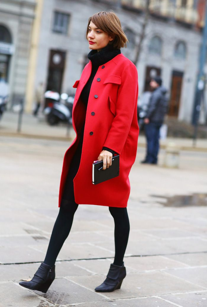 Red Coat Style | Down Coat