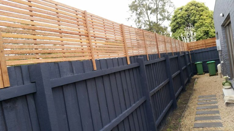 Stained Hardwood Fence Extensions Lattice Factory Lattice