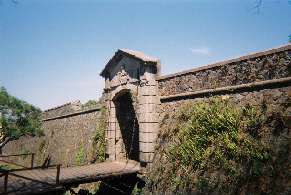 Remains of the wall built by Portugal to defend the region in the early years of the Colonia settlement in Uruguay - this was the main gate into the heart of the town.