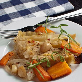 Braised Green Cabbage with carrots, onions, and garlic by kitchenriffs, via Flickr