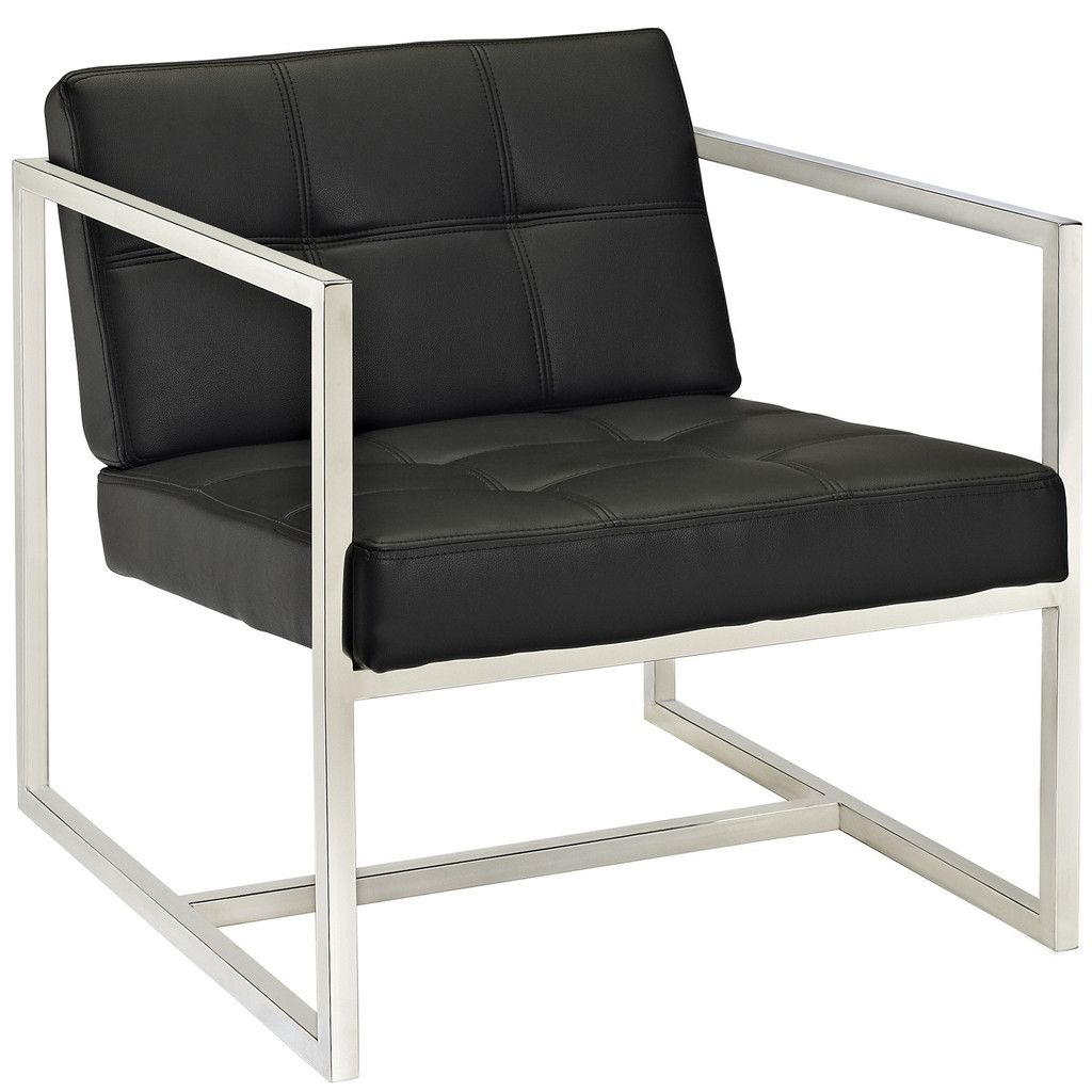 Hover Modern Reception Chair Black | Contemporary Furniture Warehouse