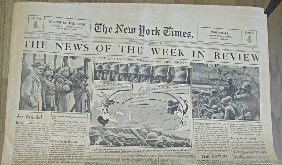 Image result for november 7, 1937 news