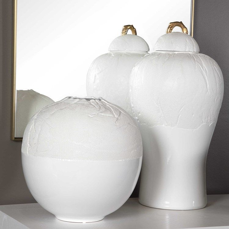 Gauze Jar Matte And Gloss White Uttermost In 2020