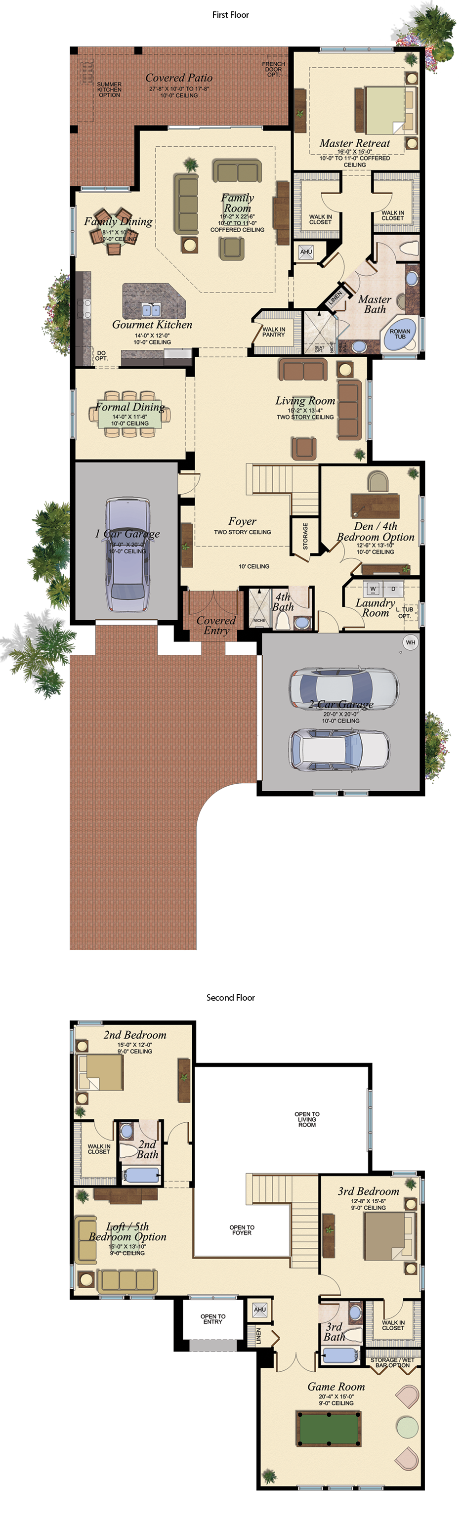 Vizcaya 606 Floor Plan Large View House Layout House
