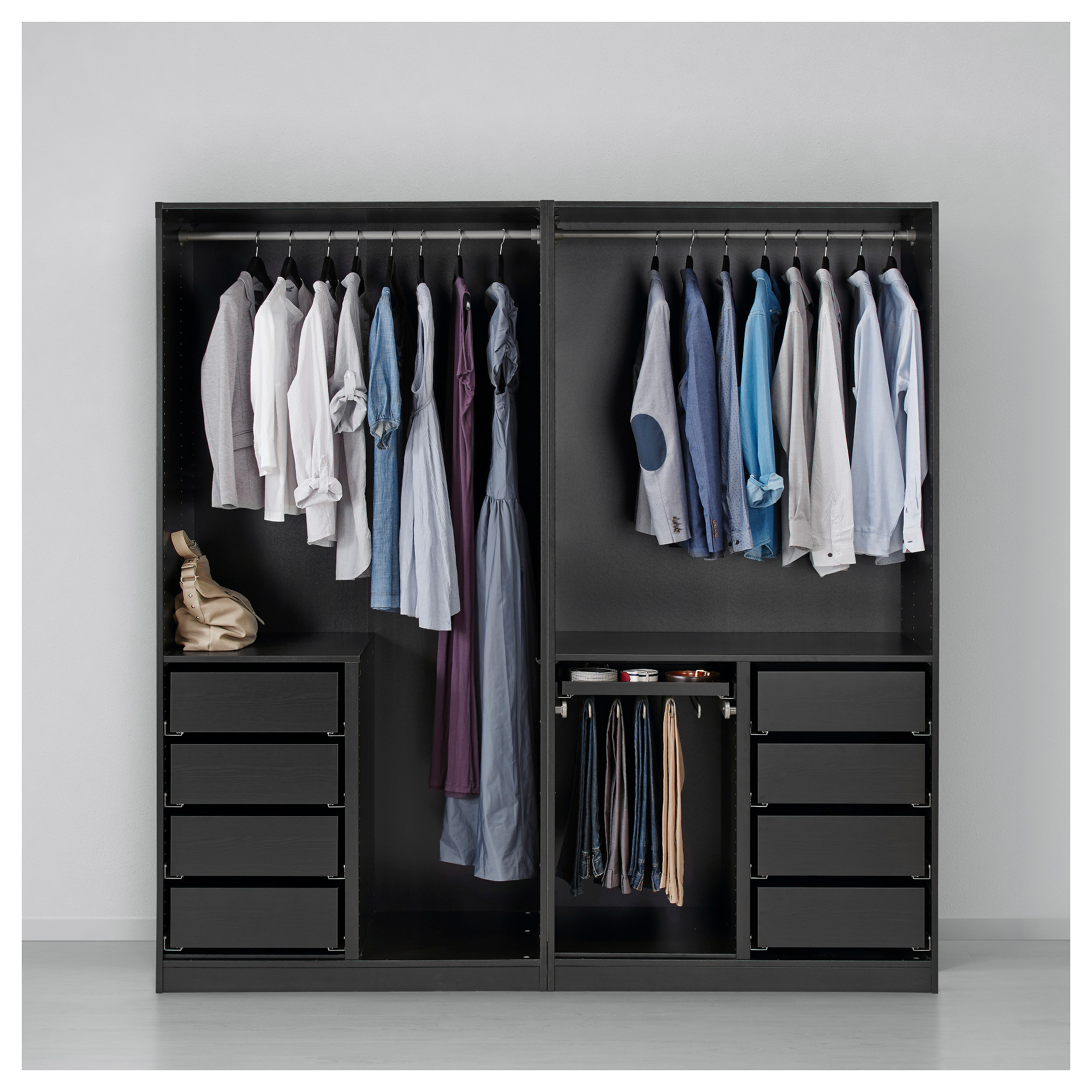 Ikea Pax Click And Collect Pax Wardrobe Black Brown Ilseng Black Brown Ikea Bedroom