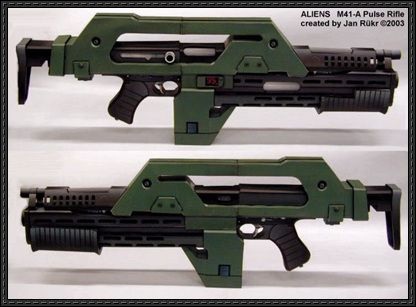 Alien Head Pepakura Files Guns