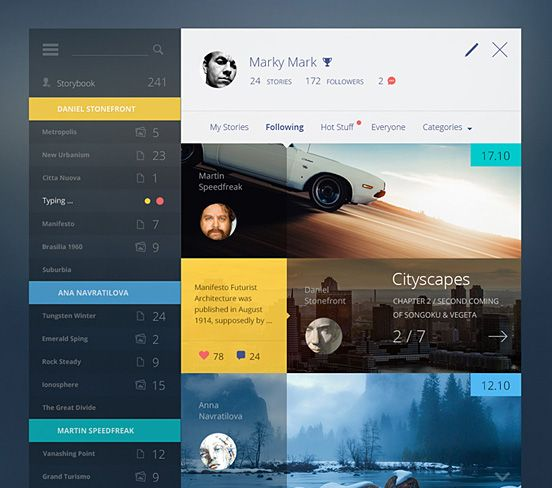 Story Book by Cosmin Capitanu #dashboard #header #proappslive