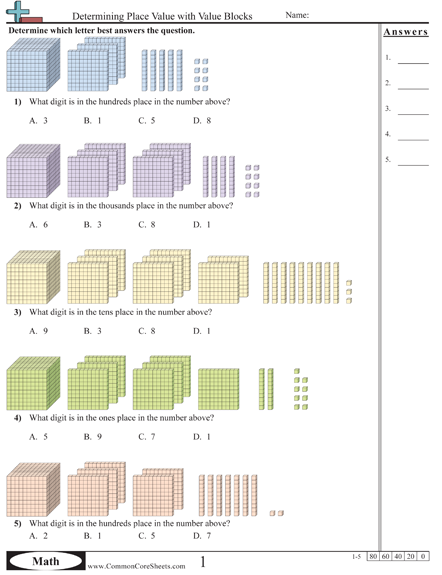 Value & Place Value Worksheets | Math | Pinterest | Segundo grado ...
