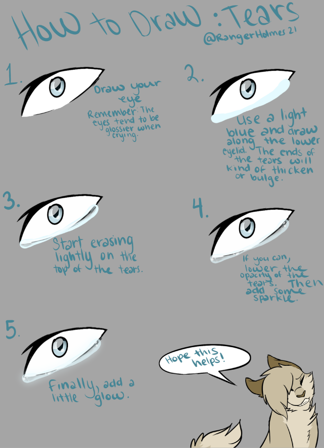 How To Draw Tears April 28 2016 Rangerholmes21 How To Draw Tears Digital Art Tutorial Art Reference Photos