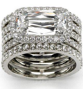 Ashoka five row trellis ring in diamond/platinum   More here: http://mylusciouslife.com/photo-galleries/bling-fling/
