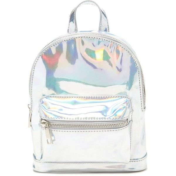 56e7023ca41e Forever 21 Holographic Mini Backpack ( 20) ❤ liked on Polyvore featuring  bags