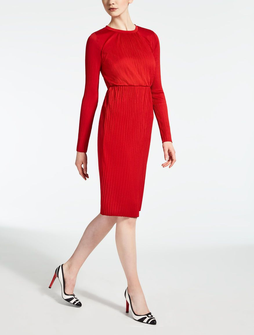 af9a313cb44 Max Mara XIRIA red  Viscose jersey dress.