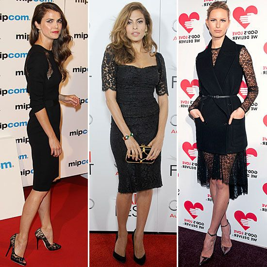 Celebrities Wearing Black Lace Dresses Styleable Fashion For Everyone
