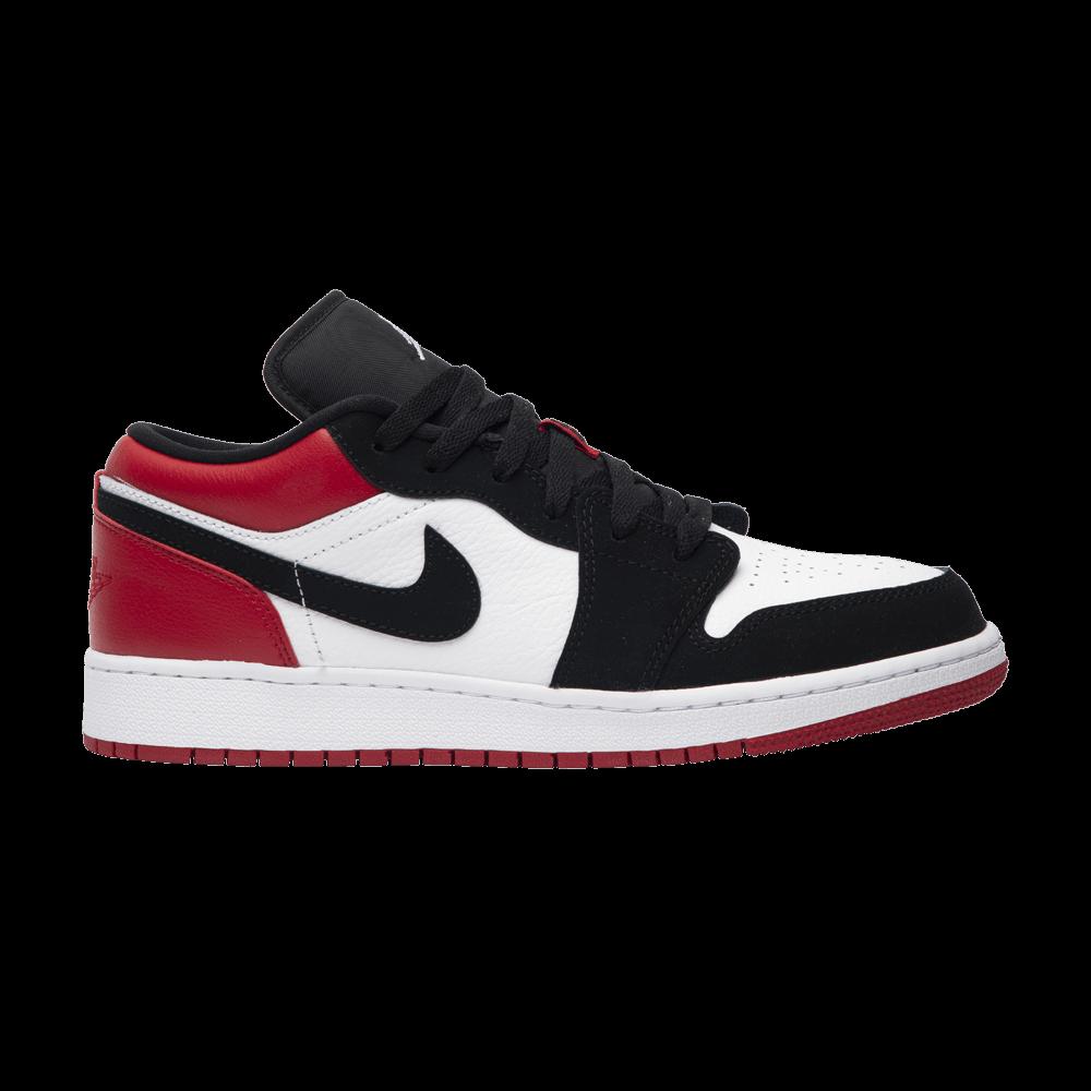 Air Jordan 1 Low GS 'Black Toe' Black toe, Air jordans