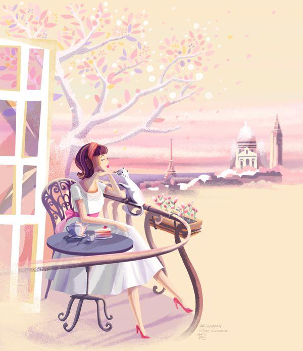 Springtime in Paris on Behance