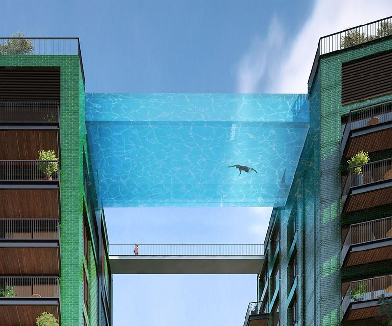 This Glass-Bottomed Swimming Pool Will Bridge Two Buildings ...