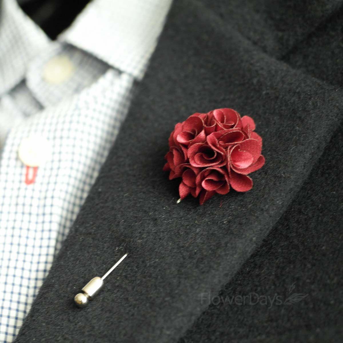 Satin mini bouquet MEN S FLOWER Boutonniere Buttonhole For Wedding LAPE