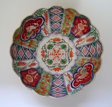 Japanese Imari Porcelain Somenishiki Colorful Large Bowl Meiji Period