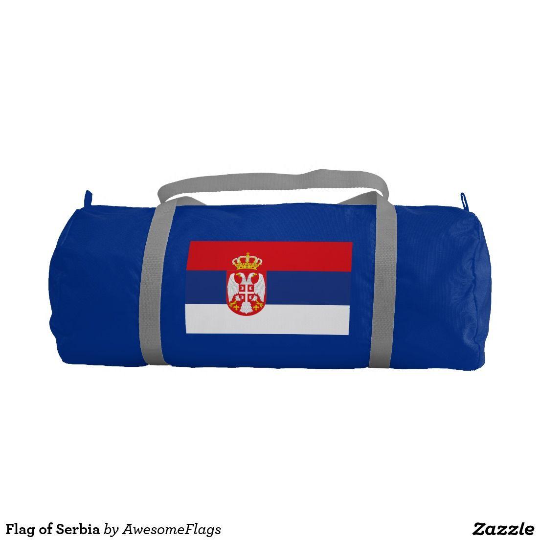 Flag of Serbia Gym Duffel Bag