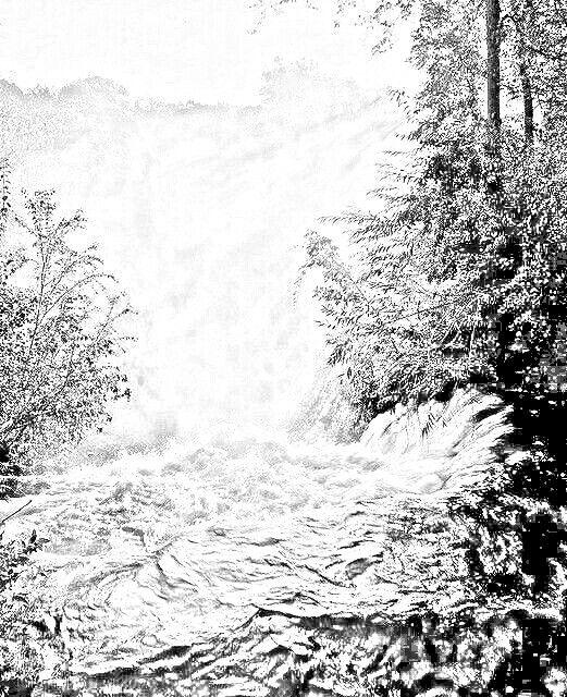 Kleurplaten Waterval.Waterval Zwart Wit Kleurplaten Black And White Snow En Outdoor