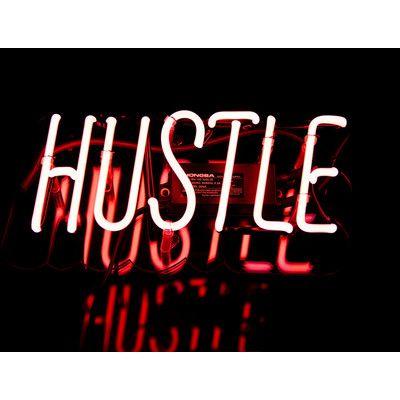 Neon Mfg. Hustle Neon Sign Color:
