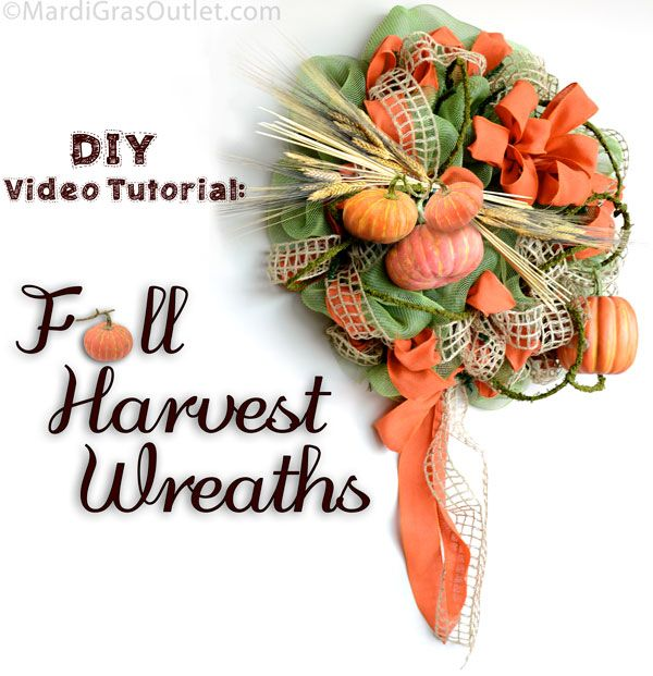Party ideas by mardi gras outlet diy video tutorial fall harvest party ideas by mardi gras outlet diy video tutorial fall harvest wreaths solutioingenieria Gallery