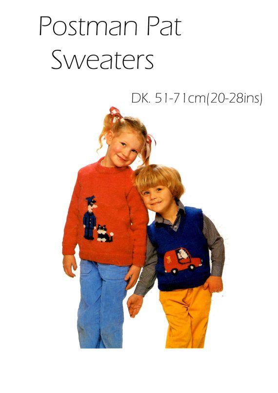 Postman pat sweater dk knitting pattern 99p postman pat knit postman pat sweater dk knitting pattern 99p by heritageknitting1 dt1010fo