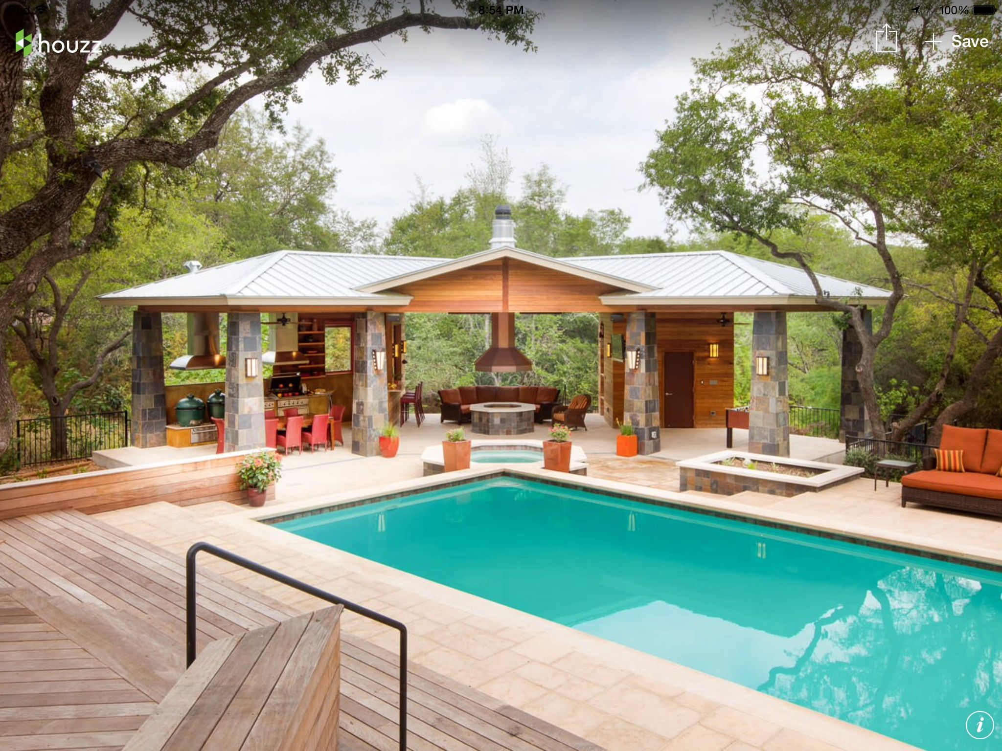 Ip Deck And Dog Run Style Covered Area Outdoor Gazebos Pool Houses Pool House Designs