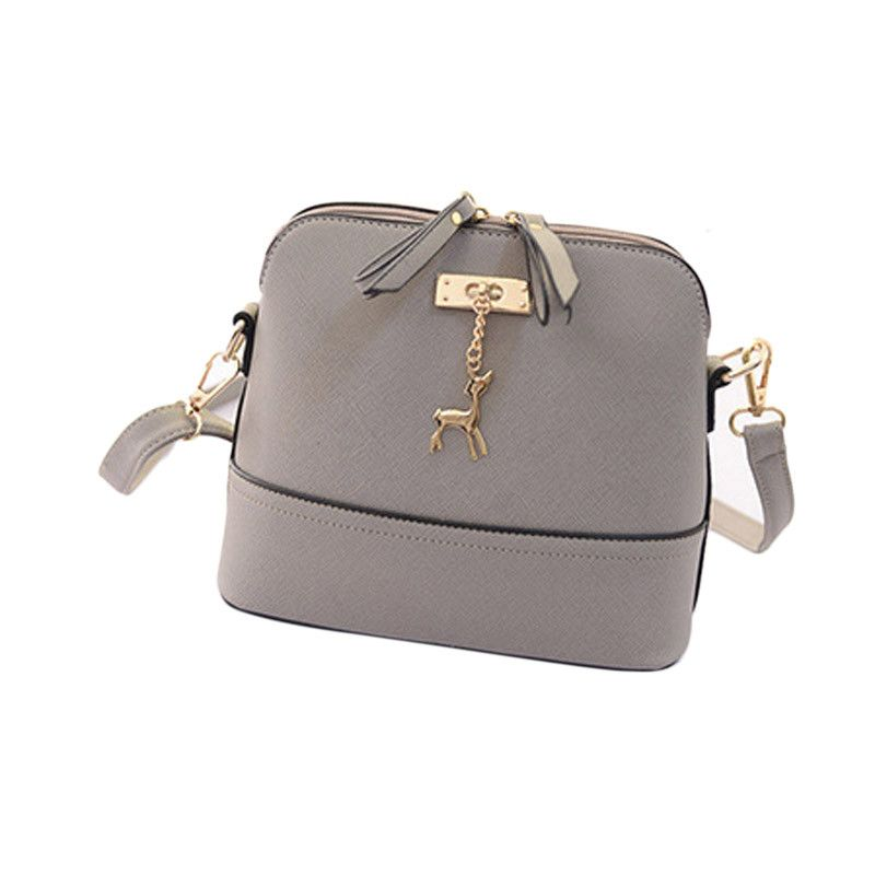 5ed70586af Leather Handbags Women Solid Color Shell Messenger Bags Vintage Small  Handbag Casual Womens Bag Sac A