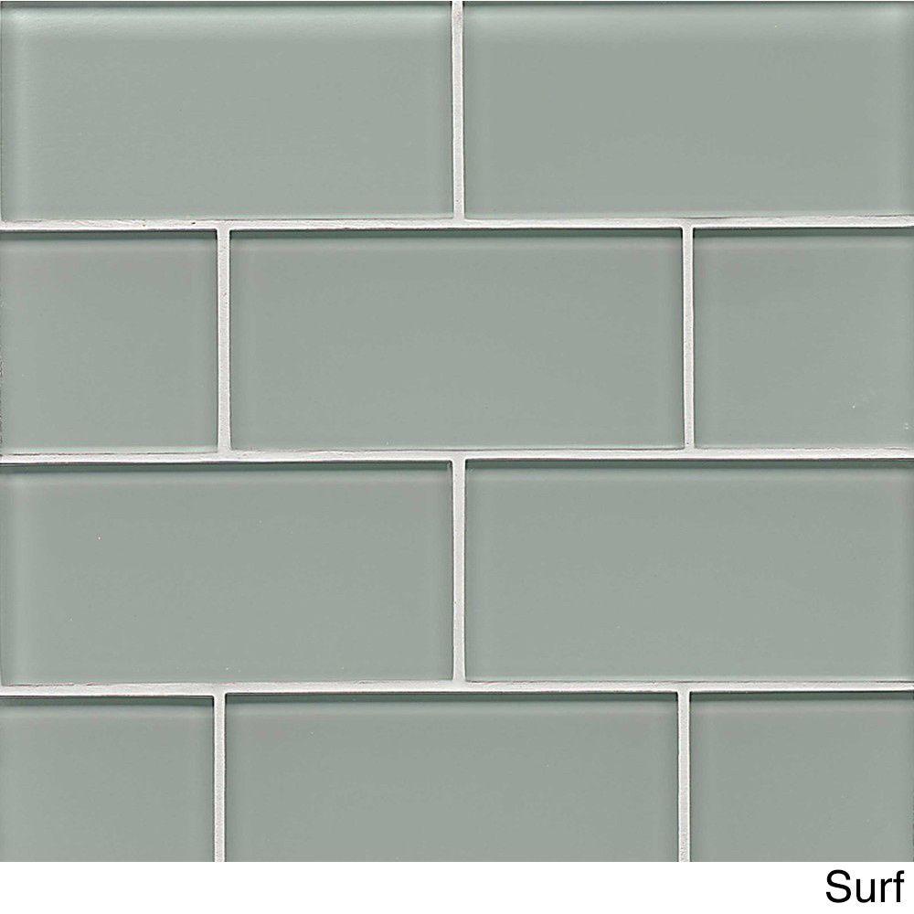 Bedrosians Field Tile Buoy Glass Tile (Box Of 60) (White Linen ...
