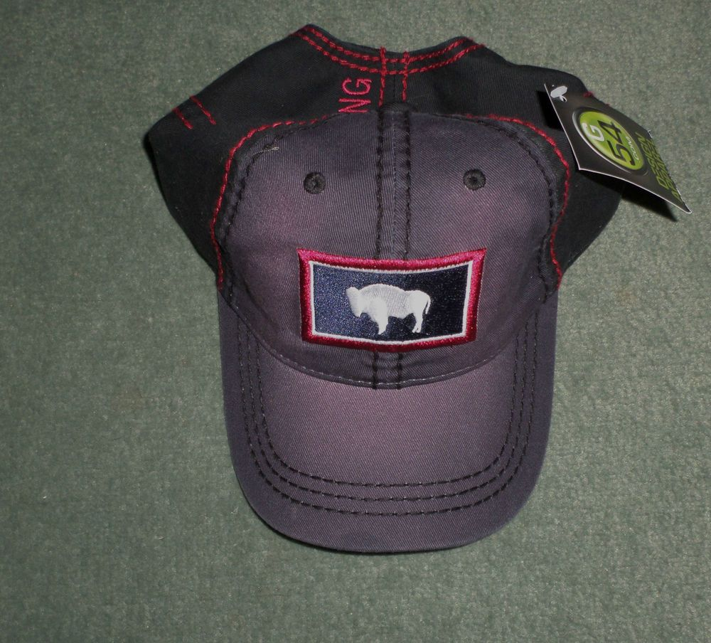 Men's Blue & Red WYOMING STATE FLAG Embroidered G54 COM Hat