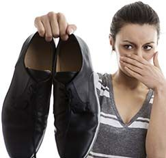 Smelly shoes.